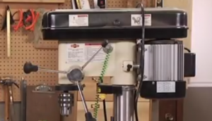 drill press with safety information