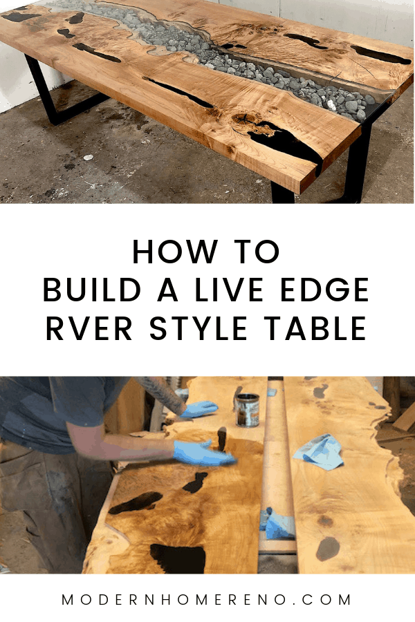 How to build a live edge table, river style dining table #DIY #liveedge #liveedgetable #epoxy #rivertable #liveedgeriver #furnituremaker #diytable #diyideas #buildfurniture #diyliveedge #liveedgewoodprojects #woodworking #woodworkingprojects #woodworkingtips ModernHomeReno