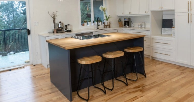 DIY white oak classy kitchen Island