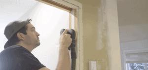 Sanding door frame