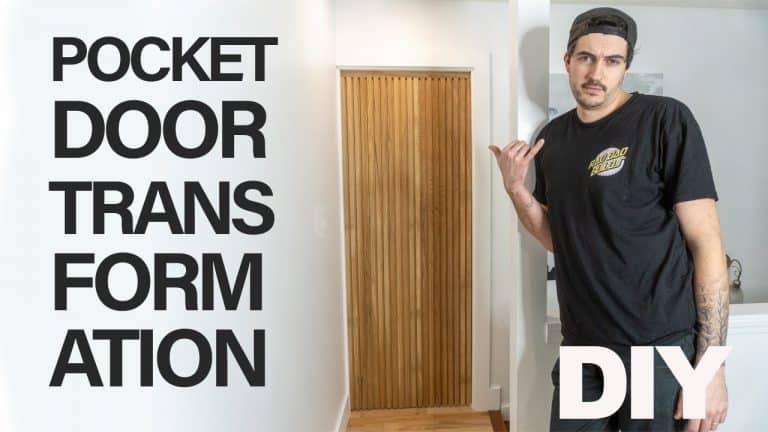 Timeless White Oak Pocket Door Transformation DIY