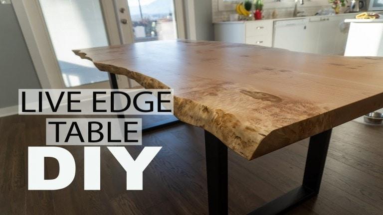 live edget table DIY