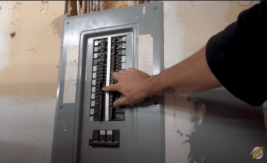 turning off the electrical breaker