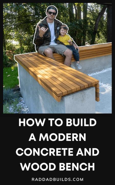 DIY concrete & wood bench tutorial