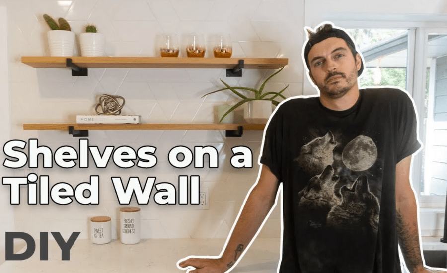 How To Install Shelves On A Tiled Wall