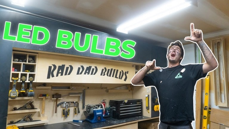 How to safely replace cheap garage lights with bright LED bulbs