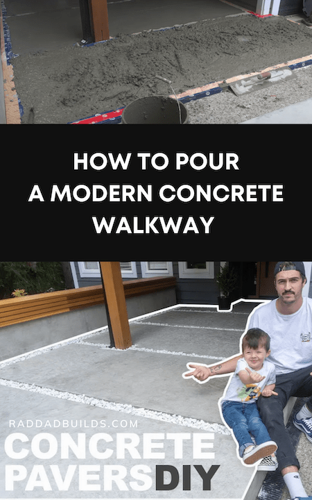 How To Pour A Modern Concrete Walkway DIY