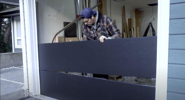 installing panel number 2