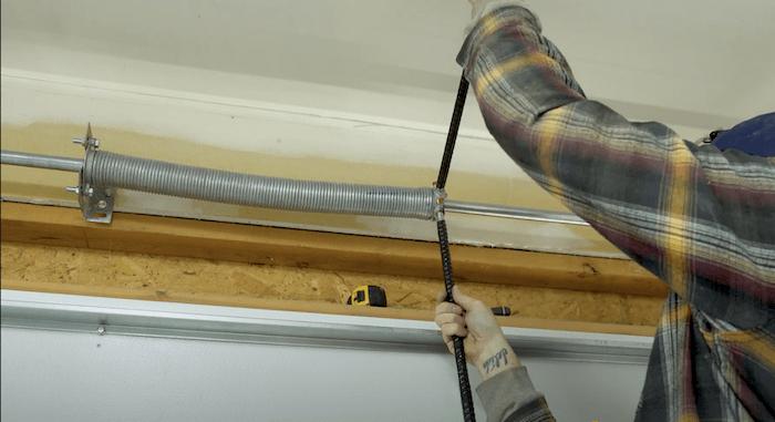 adjusting the torsion spring