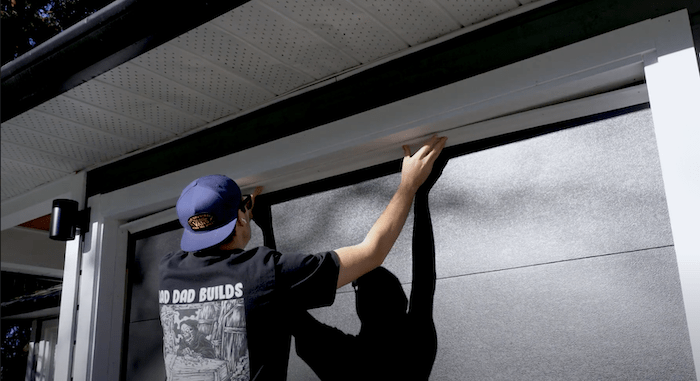installing the outside weather strips