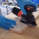 detail sander operation