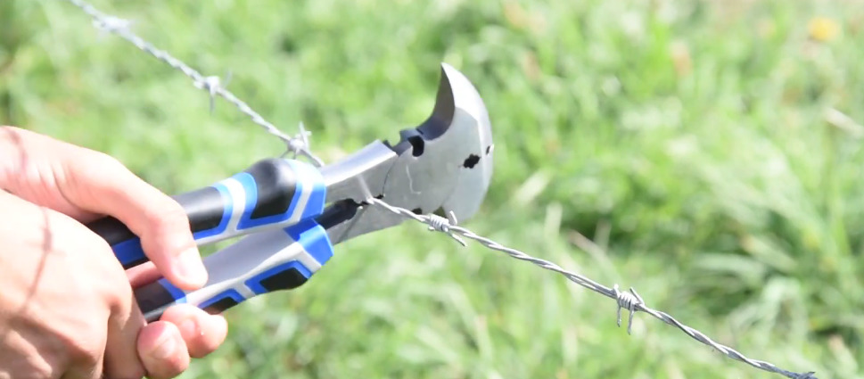 using fencing pliers on some wire