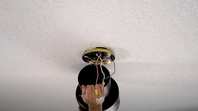 attaching fan motor to ceiling mount