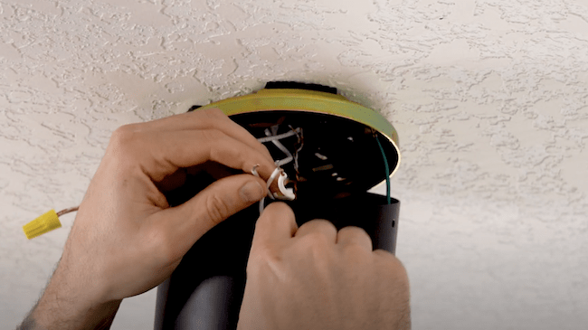 wiring the fan to the main power supply