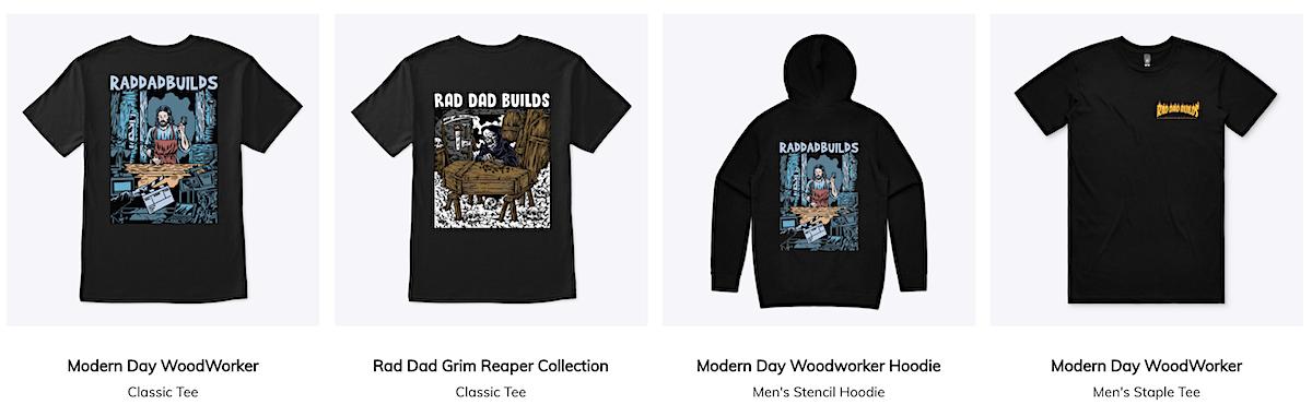 rad dad builds merch shop tshirts hoodies_