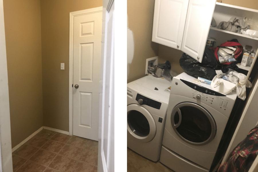 home tour laundry room makeover 1b