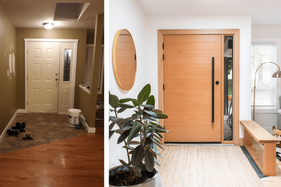 front entryway makeover home tour renovation before after