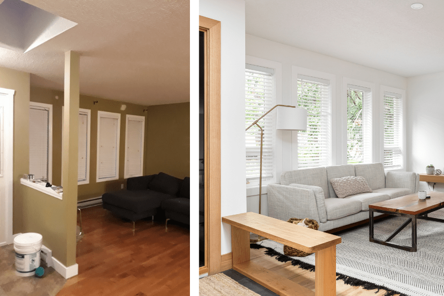 home tour renovation before and after