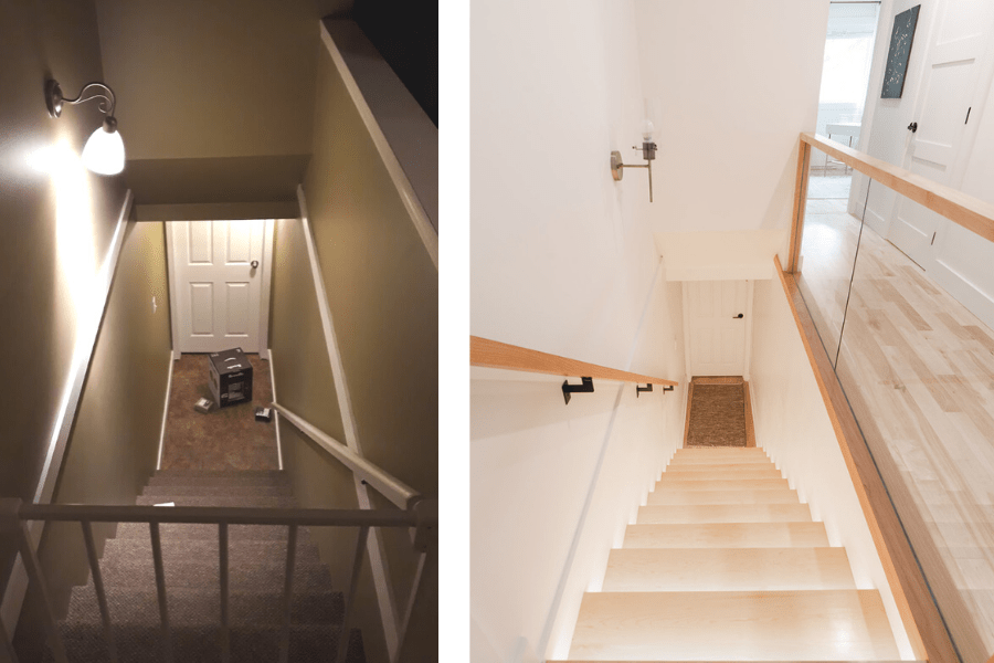 home tour stairs renovation